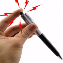 Funny Shock Gag Pen Prank Trick Toys Gift Electric Shocking Pen with Battery(China)