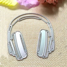 1Pcs Album Creative Hot Fashion Paper Card Novelty Chic Stencil Craft Scrapbooking Headphone Cutting Dies DIY(China)