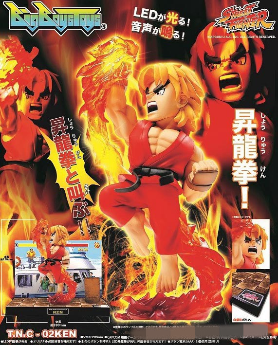 Street Fighter The New Challenger Ken with Light &amp; Sound PVC Action Figure Collectible Toy 22cm KT3291<br><br>Aliexpress
