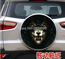 After the spare tire spare tire stickers car stickers stickers totem Langtou  For RAV4 spare tire cover Tiggo wing blog