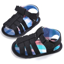 New brand cloth cover sandals shoes beautiful simple summer children's shoes soft bottom newborn toddler shoes(China)