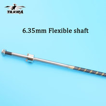 "Good Quality 6.35mm 1/4"" Flexible Shaft Long About 700mm flex shaft Cable for gas Nitro Rc Boat(China)"