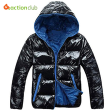 ACTIONCLUB Winter Jackets For Men Warm Jacket Men Overcoat Parka Casual Jackets Hooded Winter Coats New top Quality Black Down