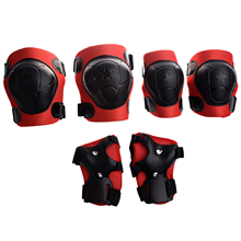 SODIAL(R) Child Skating Cycling Elbow Knee Wrist Support Pad Red Black(China)