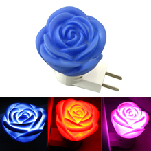 Romantic Atmosphere Night Light Novelty Rose Lamp Button Switch Low Power Holiday Decoration