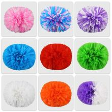 Matt color pom poms High quality 36CM game pompoms cheering supplies Cheerleader pom poms supplies PVC pompons Color 125 gram(China)