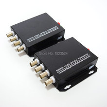 1 Pair 2 Pieces/lot 4 Channel Video Optical Converter 4V1D Fiber Optic Video Optical Transmitter & Receiver 4CH +RS485 Data