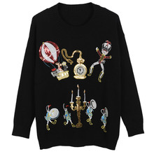 Luxury Brand Designer Runway Sweater Women Elegant Circus Soldiers Balloons Candles Sequins Embroidered Warm Knitted Tops