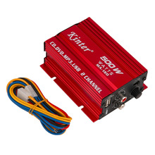 in stock ! High Quality 12V Mini Hi-Fi Stereo Audio Amplifier for Car Motorcycle Radio MP3 Red