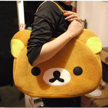 Hot Rilakkuma Cute Big Bag Handbag shoulder Bag plush relax brown bear