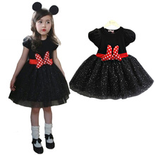 3-8Y Girl Minnie Mouse Dress Baby Kid Girls Princess Clothes Cartoon Party Minnie Dress For Girls Toddler Christmas Dress Girls