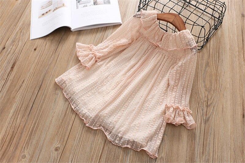 2-7 année filles robe 2018 printemps automne nouvelle mode fleur dentelle princesse robe enfant enfants robe filles vêtements filles vêtements 10