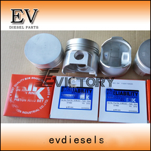 Kubota D1402 D1462 piston and piston ring set For L2202 ,L2402,KH91,KH66 tractor(China)