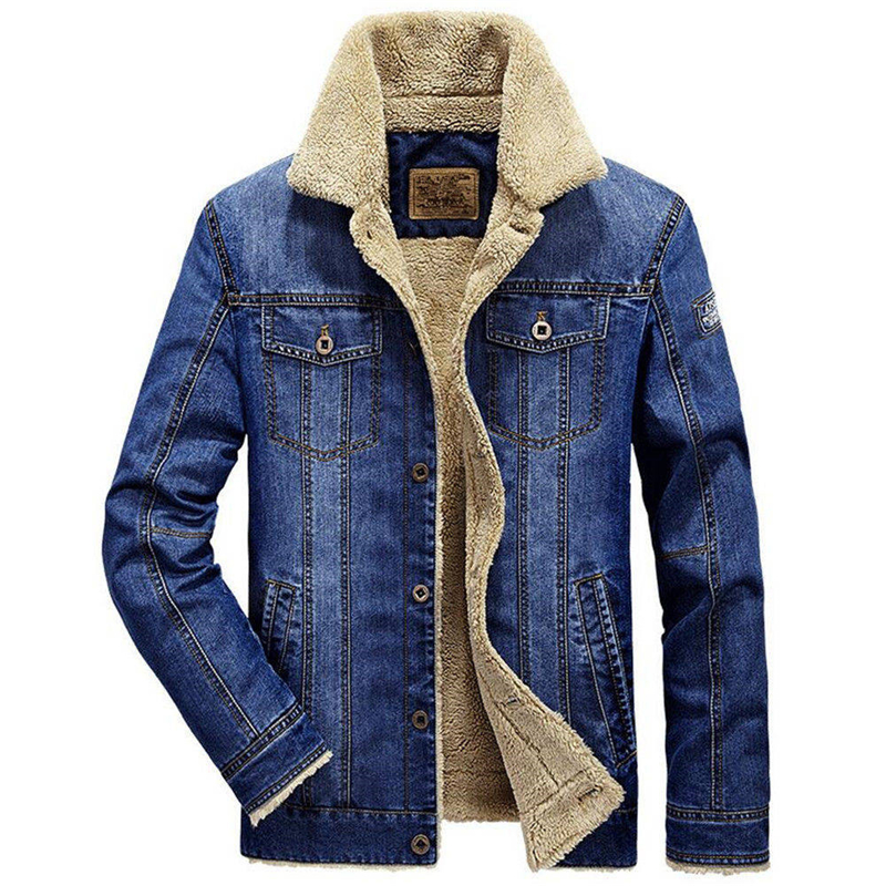 Denim Jacket Men New 2019 Winter Fashion Jeans Parka Coat Men's Military Bomber Jacket Thick Warm Outwear Male Cowboy Jacket 6XL