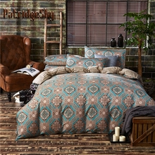 2017 Spring Euro Style 100% Cotton 3Pcs Mandala Bedding Set Duvet Cover set Bed Cover Pillowcase 4 size Queen King
