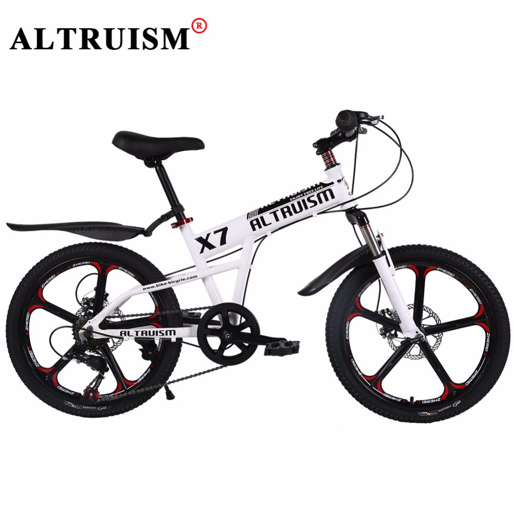 ALTRUISM X7 Mountain Bike 20 Inch 7 Speed Bisiklet Aluminum Bicycle Children's Bike Velo Double Disc Brake Bikes Road Bicicleta(China (Mainland))