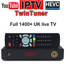 HAOSIHD hevc 2.65 satellite receiver UK IPTV twin lnb tuner with one year subscription faster watch full UK live tv VOD moive(China)
