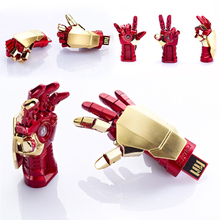 Amthin usb flash drive Creative IRON MAN pendrive Palm Shape Movable Joint U Disk Portable 4G 8G 16G USB pen drive Free Shipping(China)