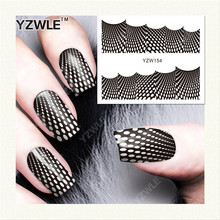 YZWLE 1 Sheet DIY Designer Water Transfer Nails Art Sticker / Nail Water Decals / Nail Stickers Accessories (YZW-154)(China)