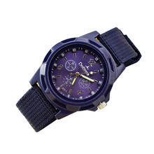 Lowest Price DOBROA Mens Watches Top Brand Luxury Fashion Sport Canvas Belt Watch Analog Automatic Watch Men Relojes de Hombre