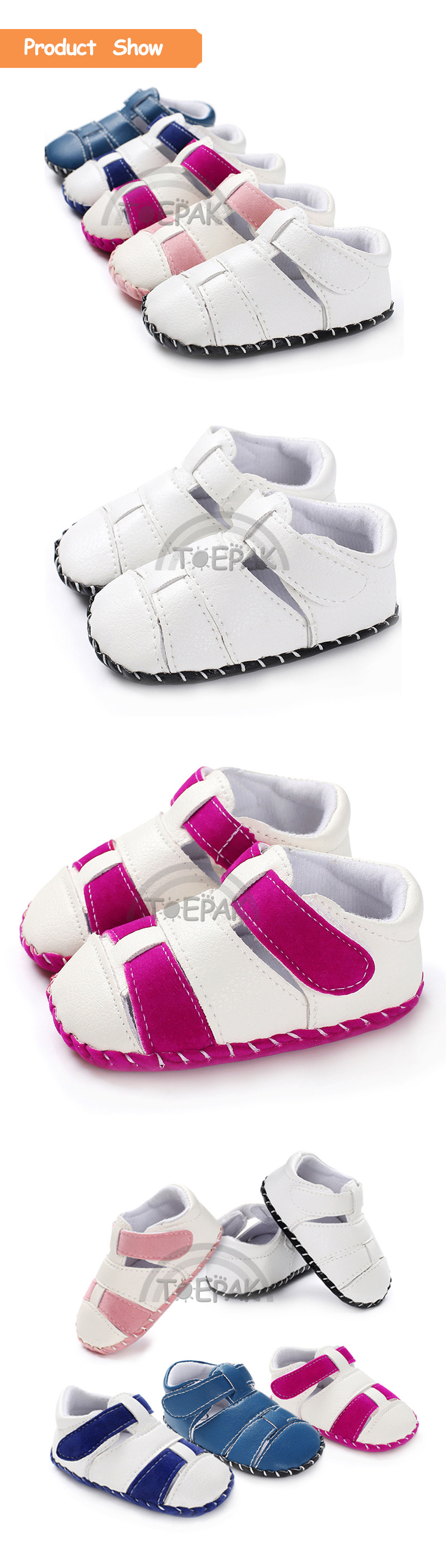 Mambobaby Spring And Summer The New PU Baby Infant Shoes Soft Bottom Wear-resistant Low Help Casual Toddler Shoes Gifts