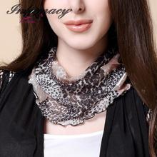 New Silk Scarf Female Sleeve Head Collar 100% Silk Scarves Warm Winter