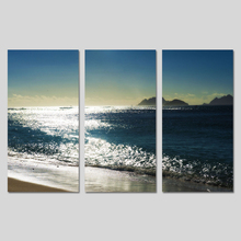 3 Pieces/set Dark Blue Sky Seascape Landscape Mountains Beach Decoration Wall Art Pictures Canvas Paintings Home Decor Unframed