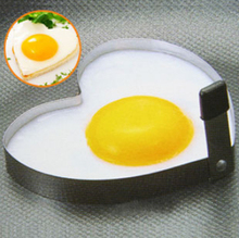 Top sales Promotions Cook Fried Egg Pancake Stainless Steel Heart Shaper Mould Mold Kitchen Tool Rings(China)
