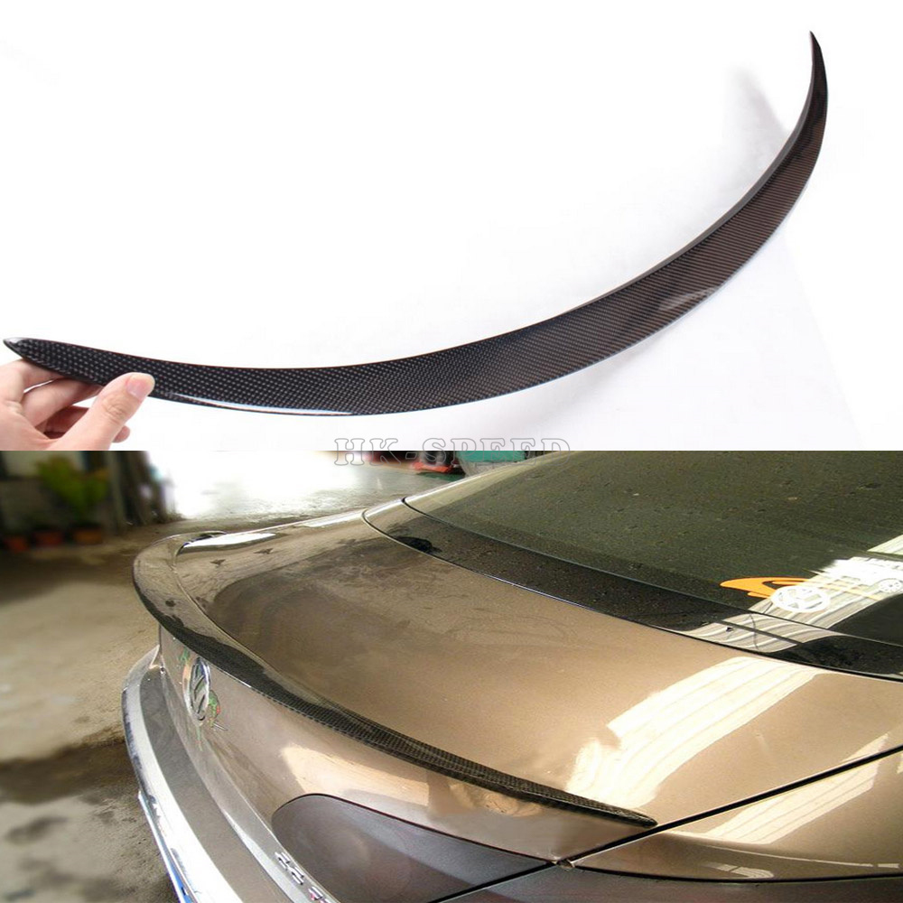 V style Carbon Fiber Car Rear Trunk Spoiler Boot Lip Wing For VW Passat CC 2009-2012<br><br>Aliexpress
