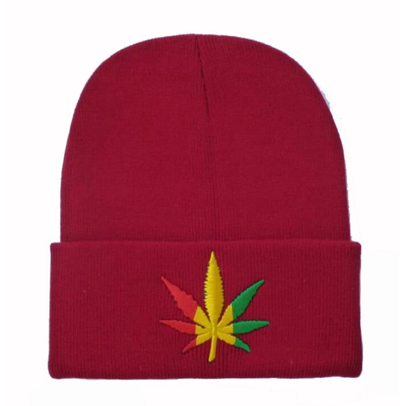Winter Beanie Hats Women Men Maple Leaf Knit Hat Skullies Hip Hop Brand ski Warm Cap canada bonnet femme touca de invernoÎäåæäà è àêñåññóàðû<br><br><br>Aliexpress