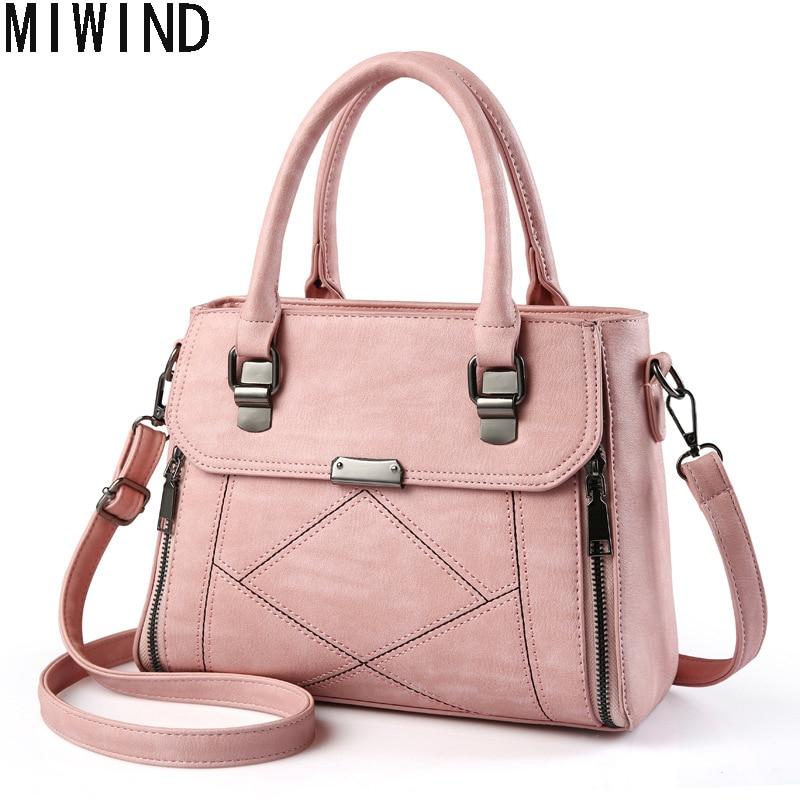 MIWIND Casual Women Pu Leather Handbag Female Crossbody Bag Famous Brand Messenger bag  Women Bags TSJ1253<br>