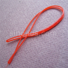 PVC Soft Hang Tag Seal String, garment clothes rubber bands plastic tickets cord colored luggage label card hangtag worm loop(China)