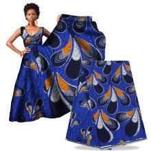 Hot sale African real wax fabric 100% cotton super wax hollandais cloth for dress african wax print fabric w16101809