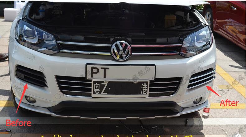 New!!More fashion! For Volkswagon Touareg 2011-2013 Front Fog Light Lamp side Grille Cover Trims<br><br>Aliexpress