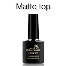 m.ladea 8.3ML BASE coat matte no wipe top Nail Polish UV Led Long Lasting Nail Gel Polish DIY Nail Art Gel