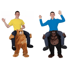 FREE Shipping Teddy Bear Stuffed Ride On Me Stag Mascot Carry Me Piggy Back Novelty Fancy Dress Costume for Purim Party