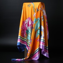Fashion Women large soft scarf / Printed square silk scarves 90*90cm / All purpose Covers Table Cloth Gifts Many Uses /Wholesale