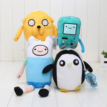 Adventure time Plush Toys Jake Finn Beemo BMO Penguin Gunter Stuffed Animals Plush Dolls Soft Toys