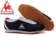 New Styles Oxford Fabric Series Le Coq Sportif Men's Athletic Shoes Sneakers Le Coq Sportif Men's Running Shoes Black/White(China)