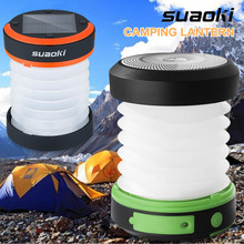 Suaoki Camping LED Lantern USB&Solar Rechargeable Collapsible Light Mini Flashlight Torch Light Waterproof Lantern for Camping(China)