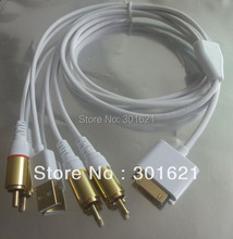 COMPOSITE AV TV Video Cable for IPHONE 4s support all ios