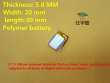 (free shipping)(5pieces/lot)052030 lithium-ion polymer battery quality goods quality of CE FCC ROHS certification authority