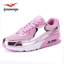 IYOUWOQU Sequined design Sneakers women athletic shoes High upper Breathable AIR Mesh Running shoes Outdoor Walking shoes