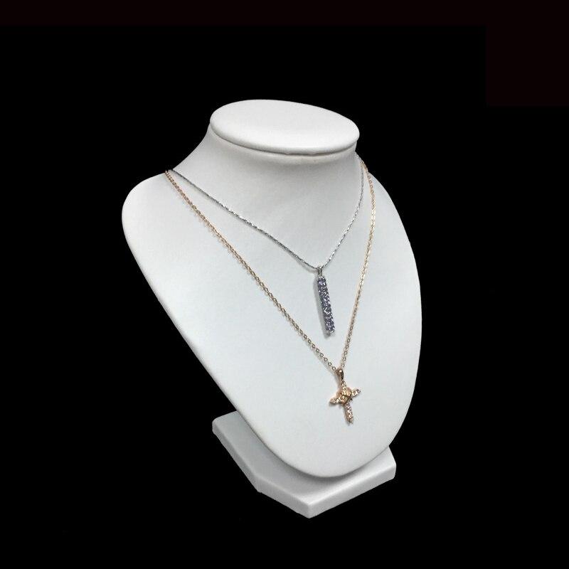 4x Bust VELVET Necklace Holder Display Jewellery Shop Stand Figurine Black