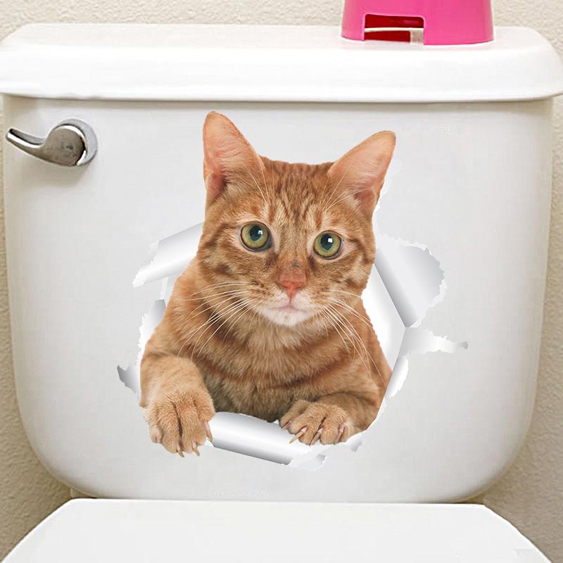 HTB18qPIibZnBKNjSZFGq6zt3FXaW - Funny 3d Kitten Broken Hole Sticker For Toilet-Free Shipping