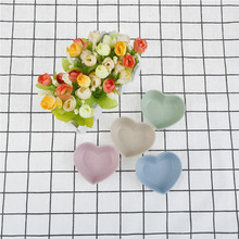 Lovely Heart Shape Tableware Dinner Plates Fruit Snack Sauce Bowl Kids Feed Food Icecream Container 4COLORS(China)