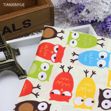 Cartoon Owl Fabric bedding Sheet Cotton Fabric DIY Patchwork Sewing FARBIC 40 *50 cm baby Saliva towel Cloth and hat fabric(China)