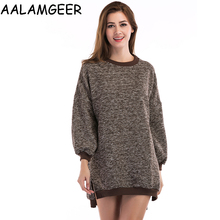 AALAMGEER Fashion Sweater Women Causal Autumn O-neck Tops Long Sleeve Pullover Sueter Mujer Invierno 2017 Hot Sale Solid Sweater(China)