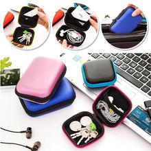 Portable Cute Colorful Earphone Case box Carry Storage Bag Headset Package for Earphone Earbuds data line Earphone Accessories(China)