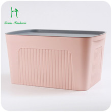 Silent love - - a large plastic storage box cover books closet storage box toy box finishing underwear(China)
